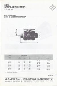 +GF+ type 320, PVC kogelafsluiter