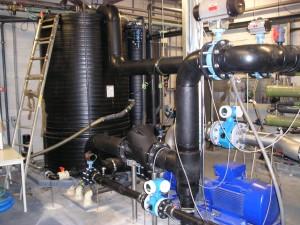 HDPE waterzuivering installatie