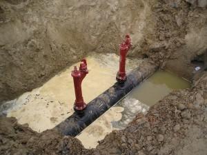 Hydrant, bluswater leiding, ondergrondse brandkraan, ondergronds hydrant,