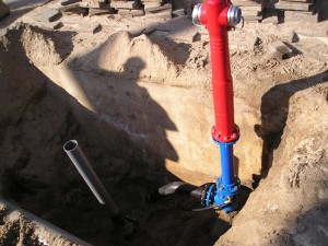 hydrant, AVK 09/80, bovengrondse, brandkraan, plaatsen, monteren