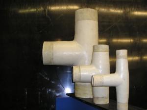 polypropeen glasvezel versterkt, PP/GVK, PP/GRP, PP-GRP, T-stuk
