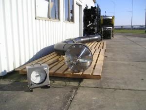 Afpersen volgens DIN 4279,  HDPE duiker, 315mm, SDR 11, SDR 17