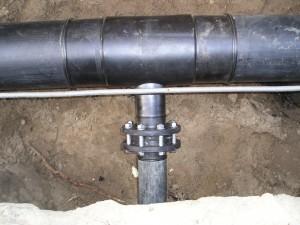 HDPE verloop T-stuk, ondergrondse hydrant leiding aansluiting, PE T-stuk, spiegellassen