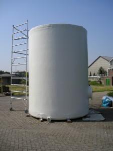 Onderhoud, reparatie, aflakken, polyester tank, coaten GVK tank
