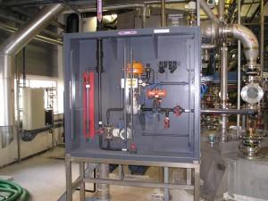HCL, afscherming, pompkast, doseer installatie, veilig werken zoutzuur, 30%, 36%
