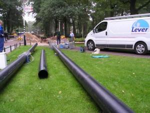 HDPE, kunststof, koelwaterleiding, ondergronds, koude transport
