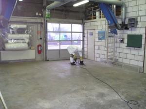 Polyester verwerking, epoxy, werkplaats