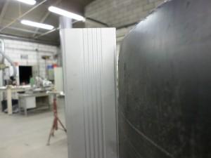 Uiteinde van een HDPE buis, Wandverzet HDPE buis