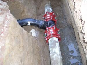 Drinkwater leiding, gy leiding, gietijzeren leiding, Multi-Joint koppelingen