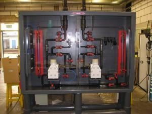 pompkast, Almatec CX50 zoutzuurpomp HCL dubbelwand leiding kunststof GF