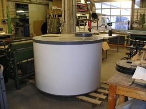 Tankbouw, HDPE HWST naturel, PVC XT CAW, Kunststof tank, Chloor, DVS 2205