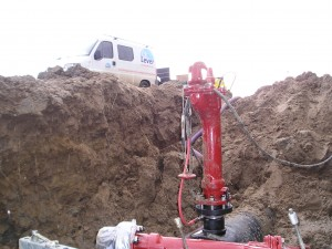 +GF+ topload zadel, 193135309, lassen, montage, aansluiten hydrant