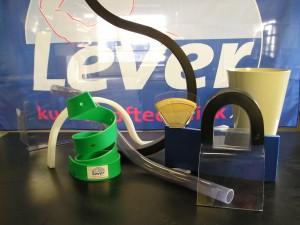 buigen van kunststof, PVC buis, warm vervormen, polypropeen, poletheen, HMPE, PE-UHM, acrylaat