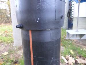 HDPE elektrolasmof verbinding slecht gelast