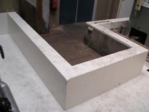 Vloeistof dicht, chemisch bestendig, onderhoudsvrij, polyester vloer