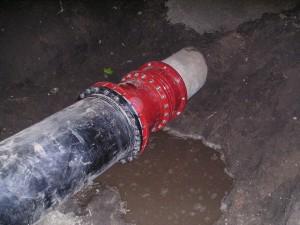montage van koppelstukken, asbestcement, persriool, E-flex, kunststof, HDPE, overgang, E-stuk, Multi/joint XL 2550