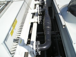 koelwaterleiding, koelwater draaikoeler
