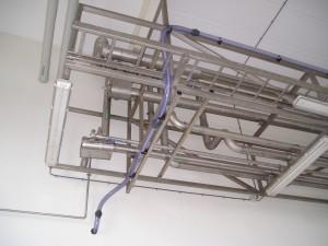 Dubbelwandige zwavelzuur leiding, H2SO4, 96%, veilig, PTFE buis, PVC transparant