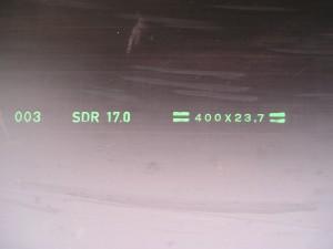 SDR waarde, HDPE100, buis 400mm, SDR 17. polyetheen buis