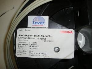 PP-H lasdraad, PP-DWU alphaPlus, DVS 2207/3