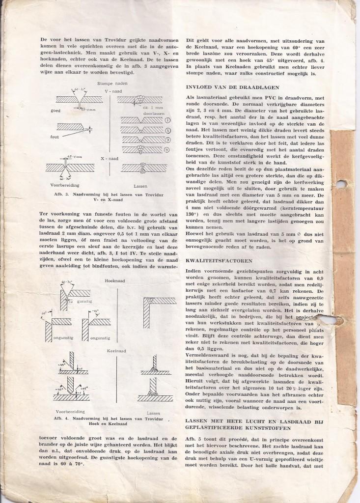 Geschiedenis, kunststof lassen, heet gaslassen PVC, trovidur
