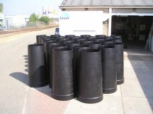 HDPE stortkokers, grote stortkokers, polyetheen trechters