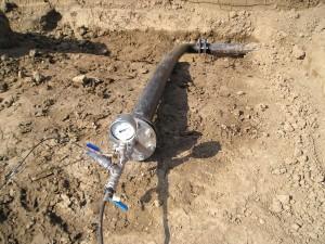 Afpersen leiding, drukproef,hydrostatische test