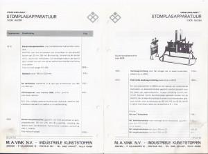 stomplasapparatuuur voor buizen 1966