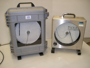 schrijvende drukmeter, hydrostatische beproeving, afpersen leidingen, schrijvende manometer